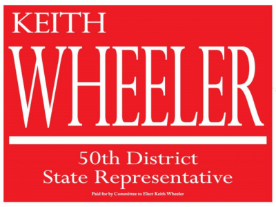 Wheeler yard sign